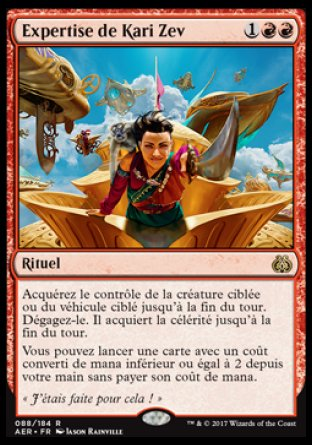 Expertise de Kari Zev Magic The Gathering