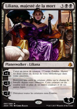 Liliana Majesté de la Mort Magic The Gathering