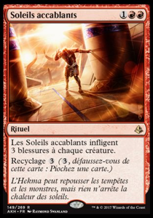 Soleil accablant Magic The Gathering