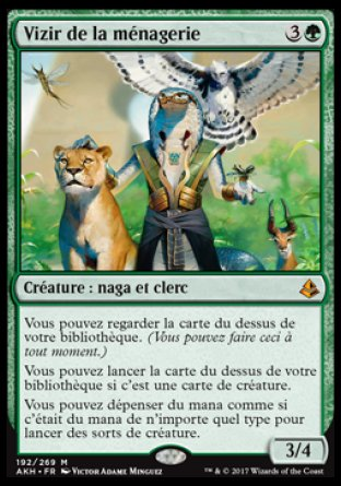 Vizir de la ménagerie Magic The Gathering