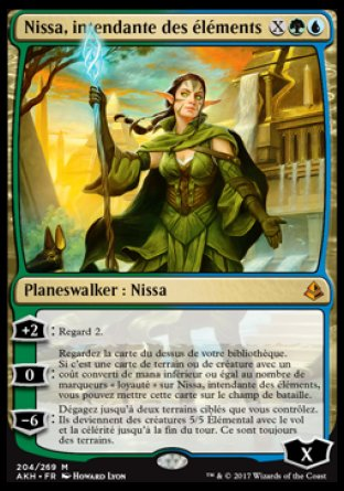 Nissa intendante des éléments Magic The Gathering