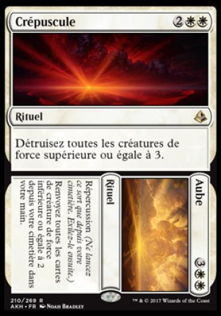 Aube Crépuscule Magic The Gathering