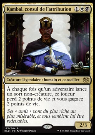 Kambal, consul de l'attribution Magic The Gathering