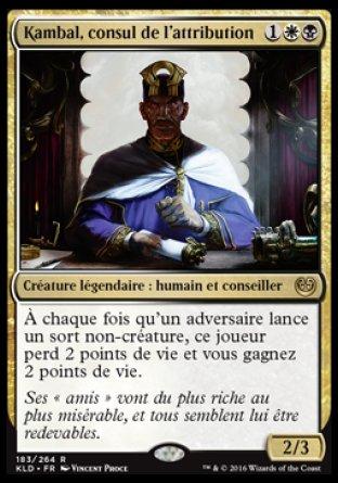Kambal, consul de l'attribution Magic The Gathering