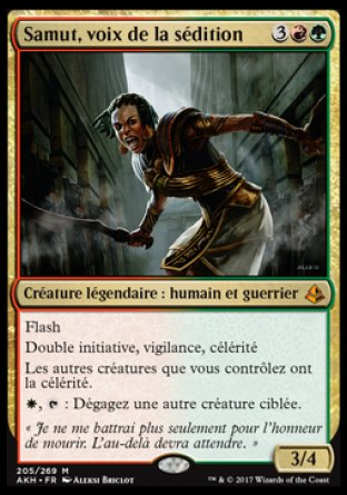Samut, voix de la sédition, Magic The Gathering