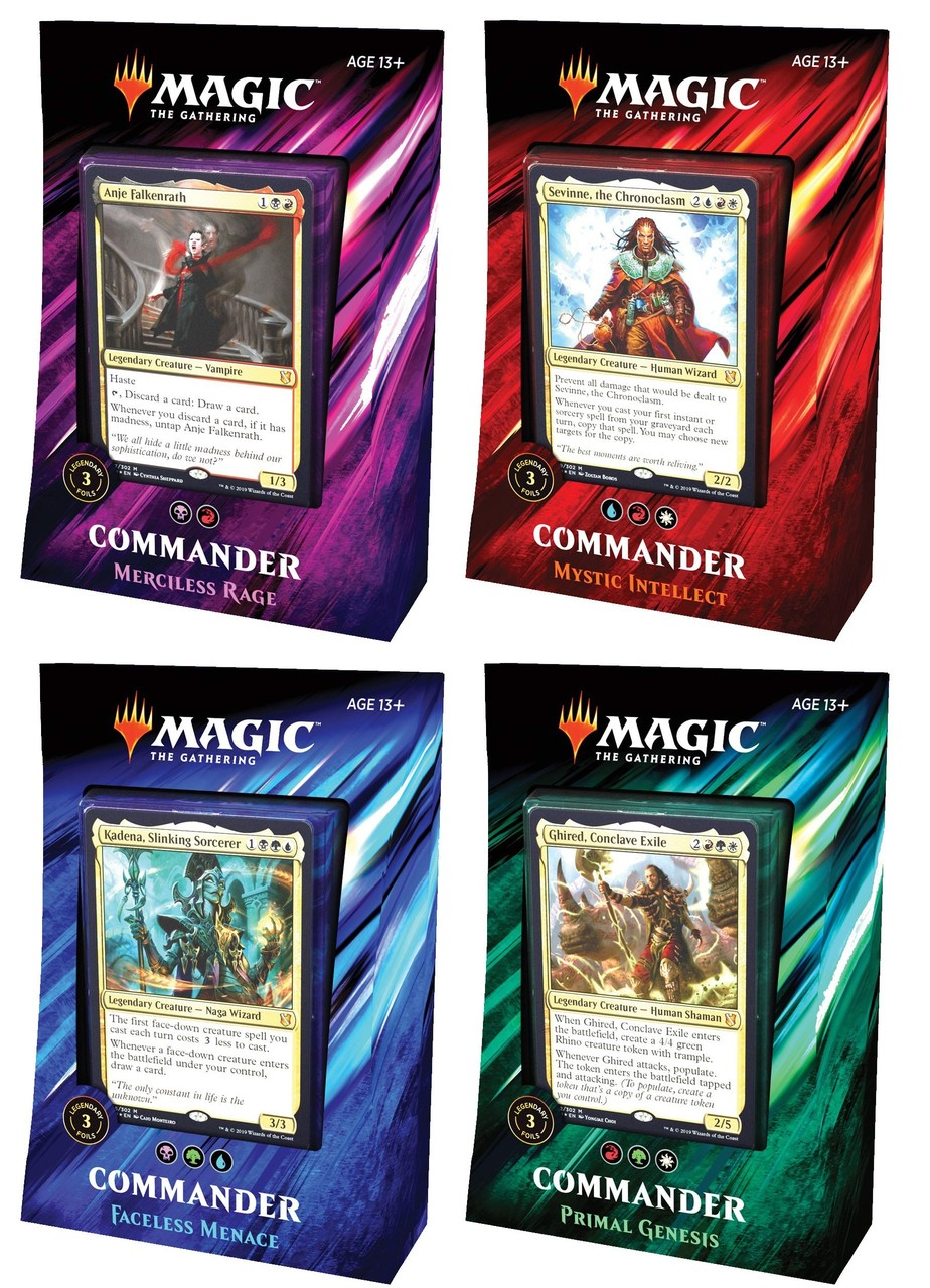 Commander 2019 decks