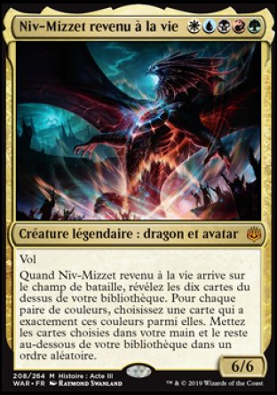 Niv-Mizzet revenu à la vie